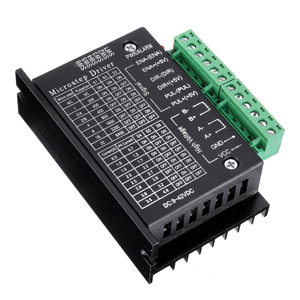 Tb6600 Upgraded Stepper Motor Driver Controller For 4a 9 40v Ttl 32 Micro Step 2 Or 4 Phase Of 42 57 Stepper Motor 3d Printer Cnc Part
