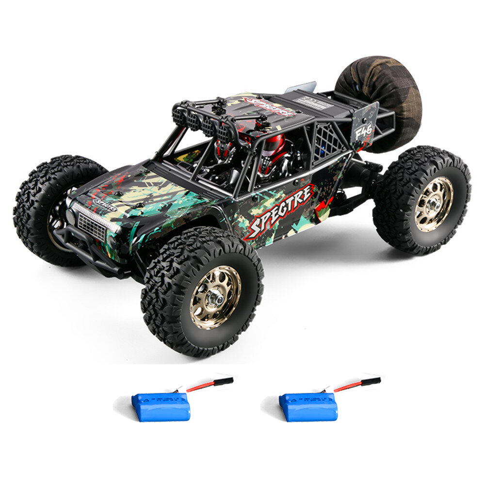 HBX 16886 1/14 4WD 2.4G RC Car Off Road Desert Truck Brushed Vehicle Models Full Proportional Control Two Battery