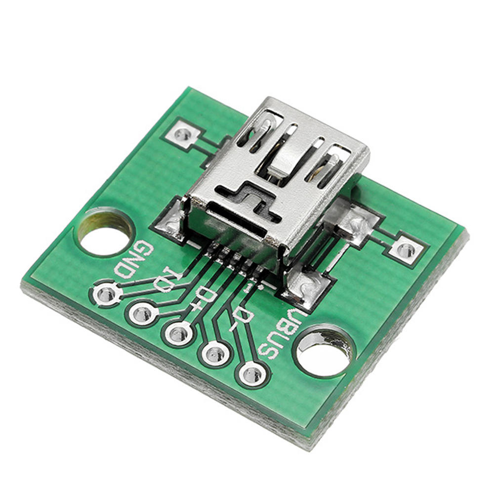 100pcs USB To DIP Female Head Mini-5P Patch To DIP 2.54mm Adapter Board