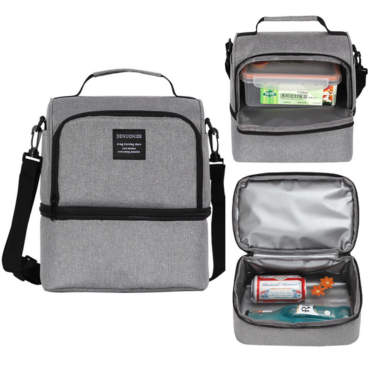 807ea06117c5 Outdoor Picnic Thermal Insulated Cooler Bag Food Container Lunch Box Tote  Storage Bag Men Women