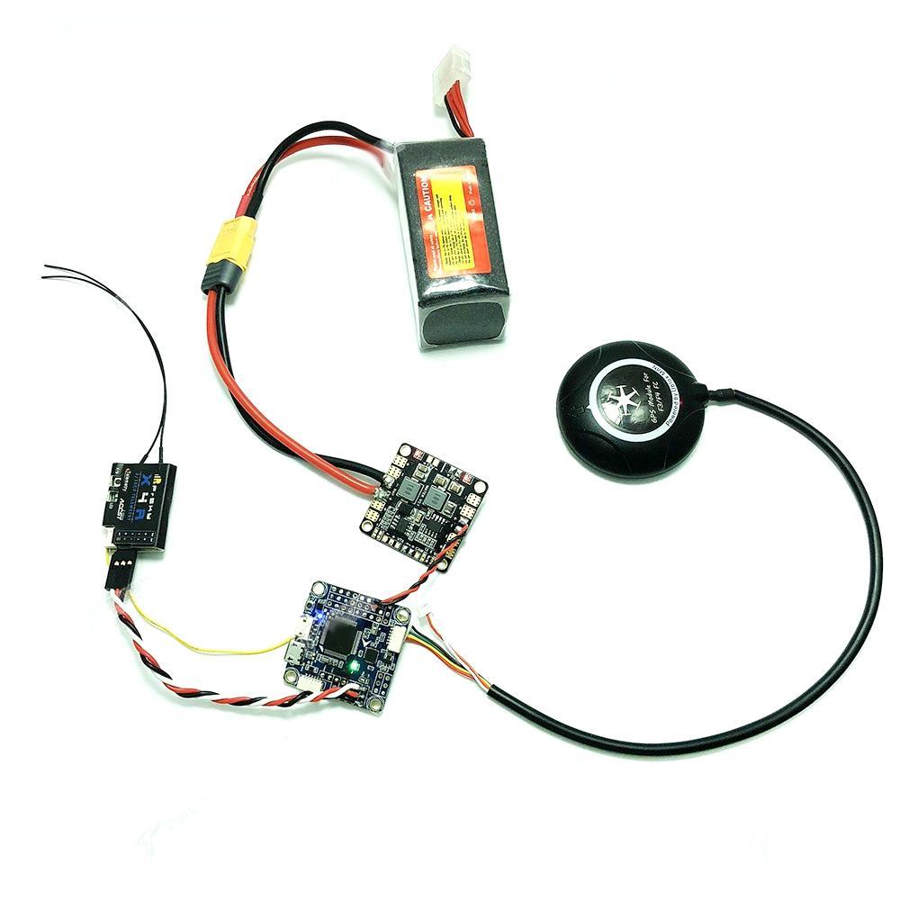 Inav F4 Deluxe 30.5x30.5mm Contrôleur de Vol Intégré avec M8N GPS Boussole Baro OSD pour Drone RC