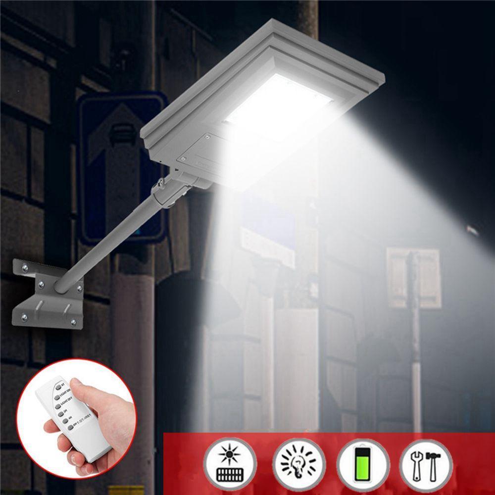 20W Waterproof Solar Powered Street Light Remote/Light Control with Bracket Outdoor Garden Walkway