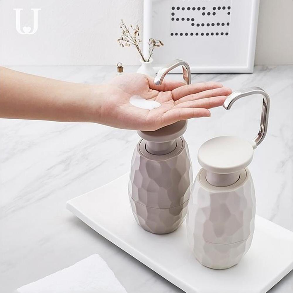 Jordan&Judy Creative One-hand Press Soap Dispenser Facial Cleanser Shower Gel Dispensing Bottle Shampoo Lotion Separate Dispenser