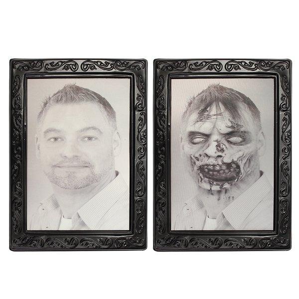 Lenticolare ritratto orribile 3d volto mutevole orrore tormentato spettrale decorazioni di Halloween