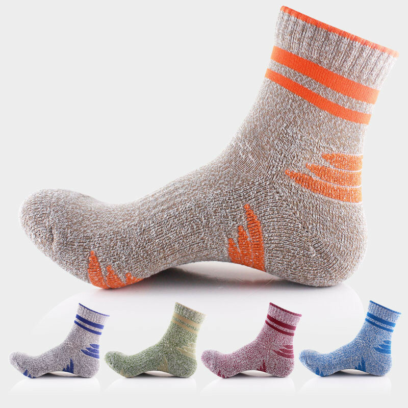 Men Fall Winter Quick Drying Polyster Sports Basketball Colors Patchwork Socks