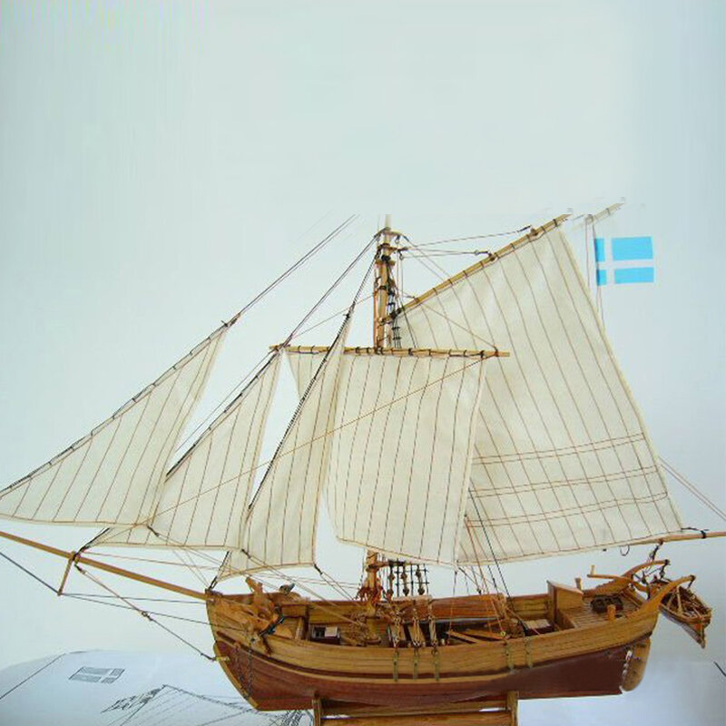 Wooden Assembly Ship Model Building Diy Fishing Boat Laser Decoration Kits Toy Gift