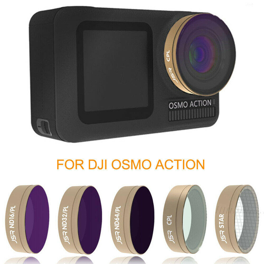 Optical Glass Lens Filter UV CPL ND STAR Kit for DJI OSMO ACTION Sports Camera - ND4