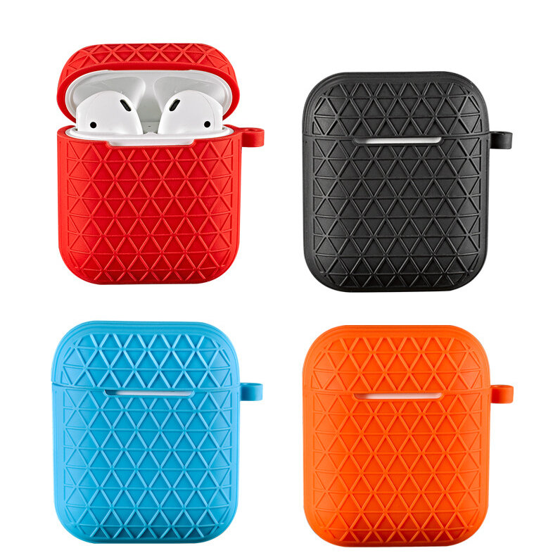 Bakeey Shockproof Earphone Protective Case With Hook For Apple AirPods