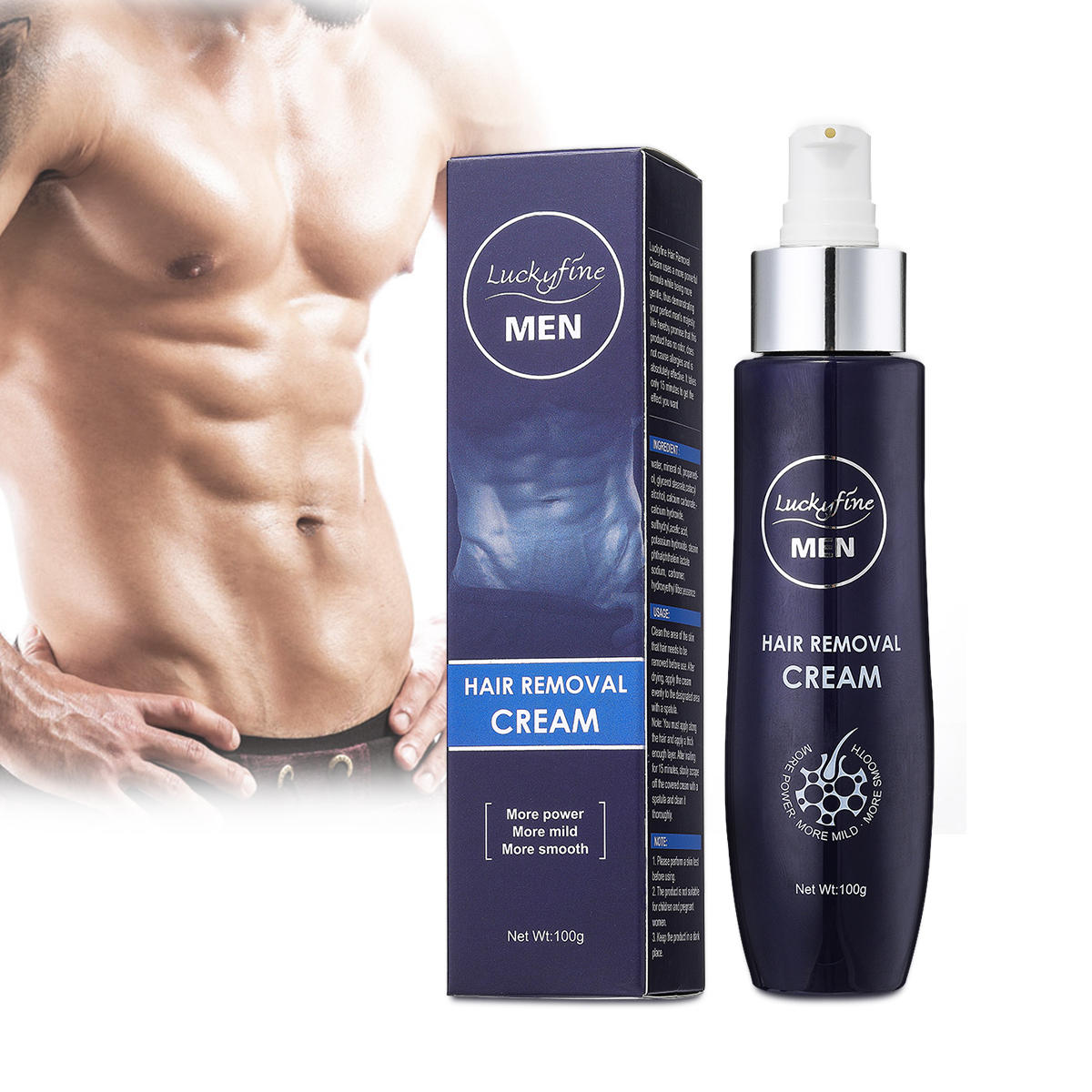 Luckyfine Mens Hair Removal Cream Extra Gentle Hair Growth Sale Banggood Com