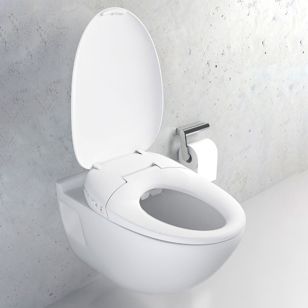 Whale Spout Washing Intelligent Temperature APP Smart Toilet Cover Seat with LED Night Light from Xiaomi Youpin