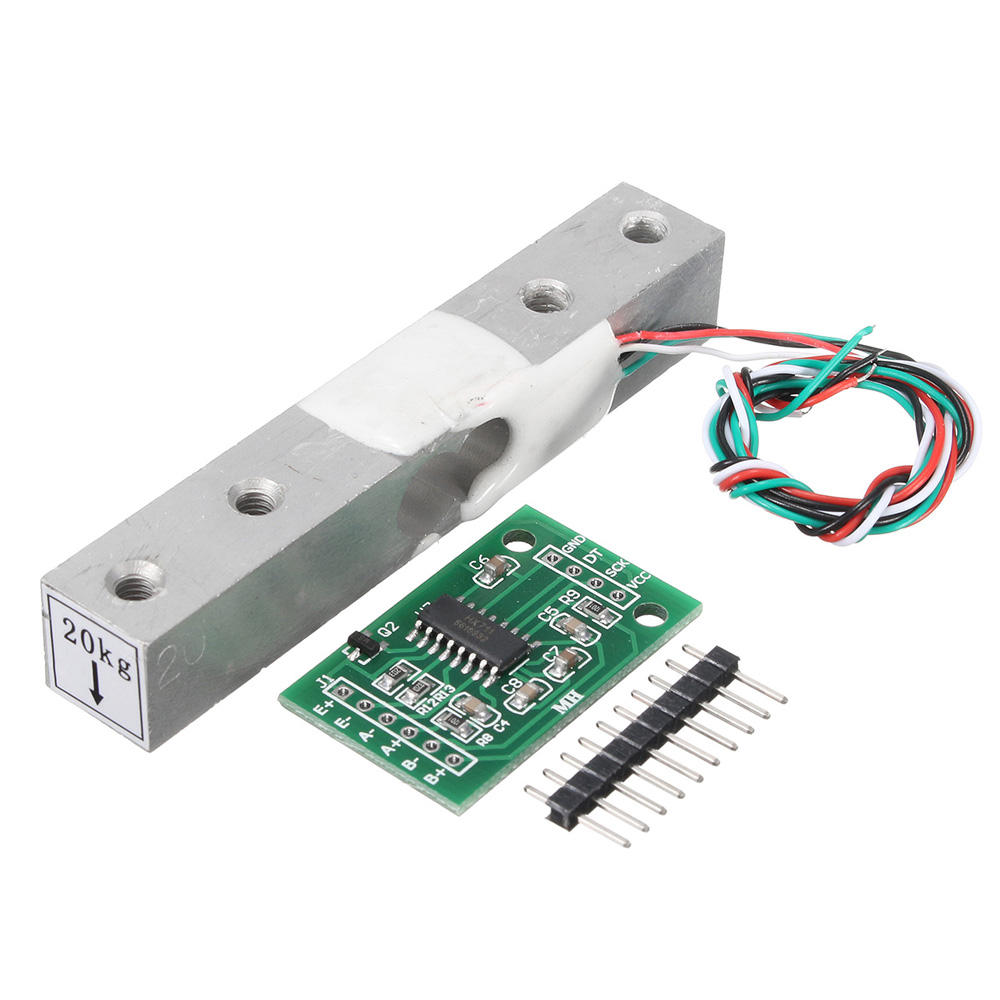 5pcs HX711 Module + 20kg Aluminum Alloy Scale Weighing Sensor Load Cell Kit Geekcreit for Arduino - products that work w фото