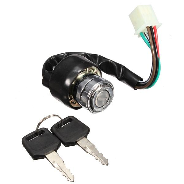 6 wire ignition switch 2 keys universal for car motorcycle scooter bike  quad go kart cod