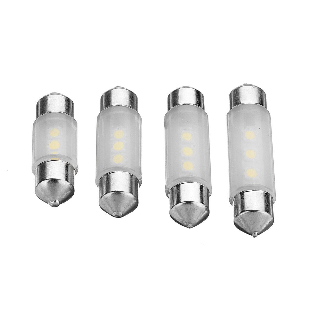 LED Featoon Dome Lampu Mobil Interior Membaca Peta Lampu Plat Putih 31/36/39 / 41mm