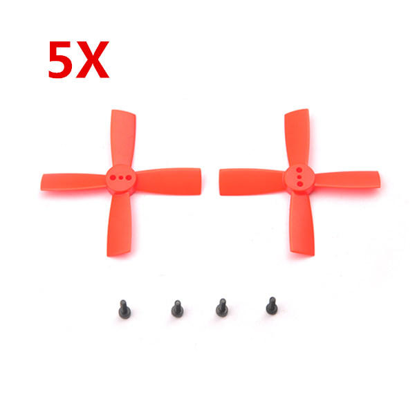 5 Pairs Eachine 2035 50mm 4 Blade Propellers ABS For Eachine Aurora 90 100 Mini FPV Racer RC Drone