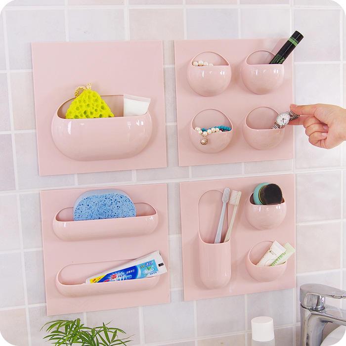 Seamless Bathroom Toothbrush Holder Bath Shaver Organizer Paste Hanger