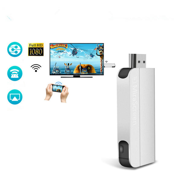 Wireless WiFi Display Dongle Receiver 1080P HDMI TV DLNA Airplay Miracast