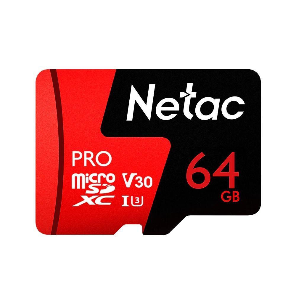 Netac P500 Pro V30 UHS-I U3 100MB/s Micro SD Card TF Memory Card  64GB 128GB 256GB