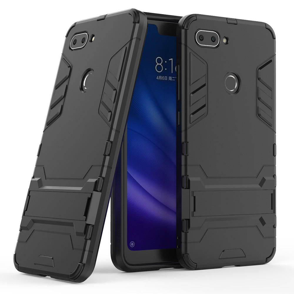 Bakeey™ Armor Shockproof with Desktop Stand Soft TPU + Hard PC Back Cover Protective Case for Xiaomi Mi8 Mi 8 Lite