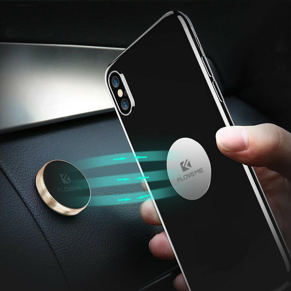 FLOVEME Magnetic Car Phone Holder Sticker Mount Stand Multifunctional for Car Dashboard Wall Desk