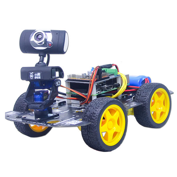 Xiao R GFS DIY Smart RC Robot Wifi Video Control Car with Camera Gimbal Raspberry Pi 3B+ Board