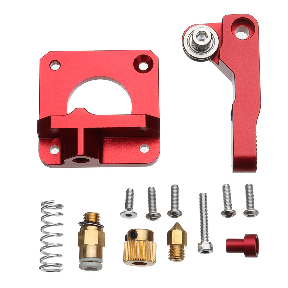 Upgraded Aluminum MK8 Extruder Replacement Kit for CR-10 3D Printers
