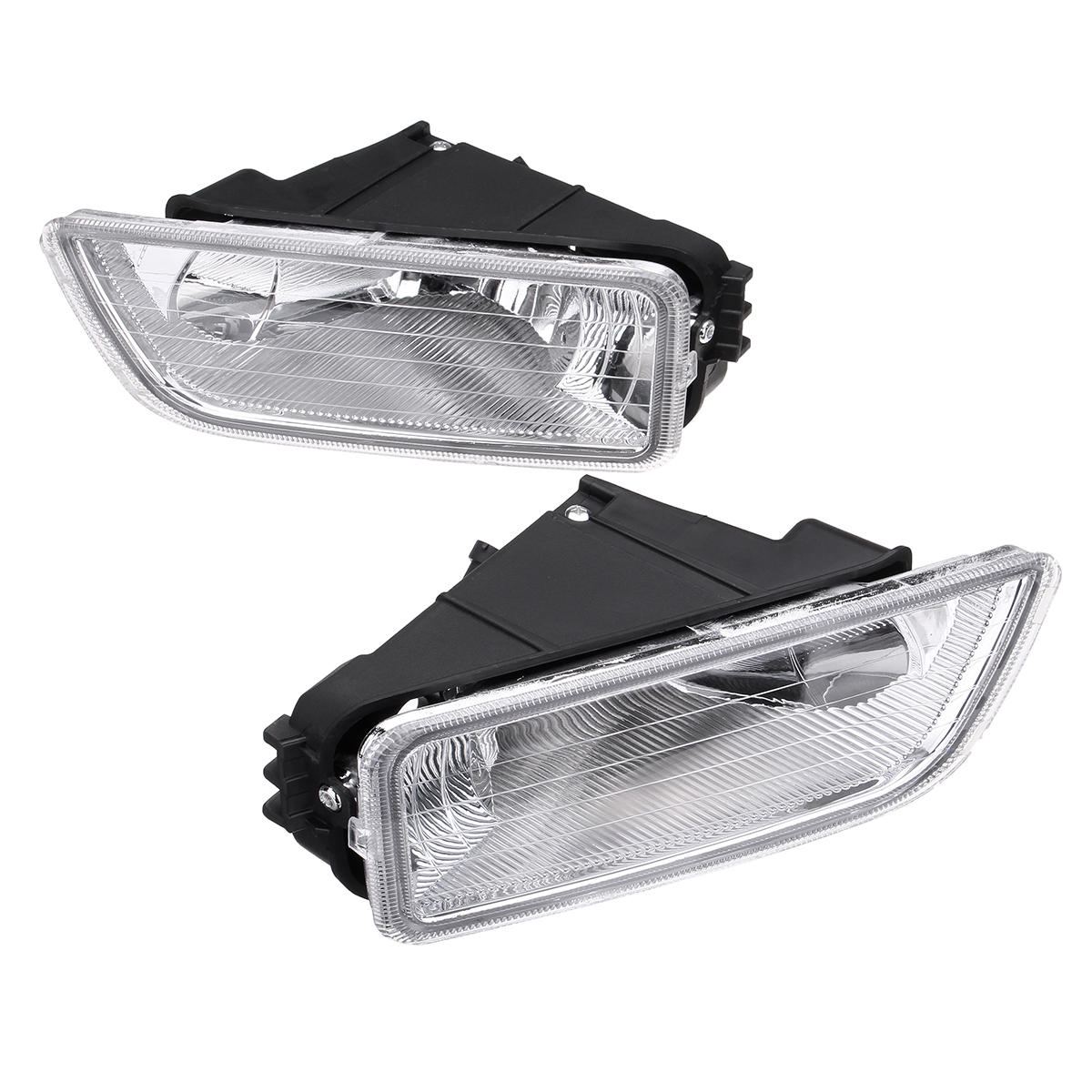 Pair Car Front Bumper Fog Lights Assembly with H11 Halogen Bulb Amber for Honda Accord 2003-2007