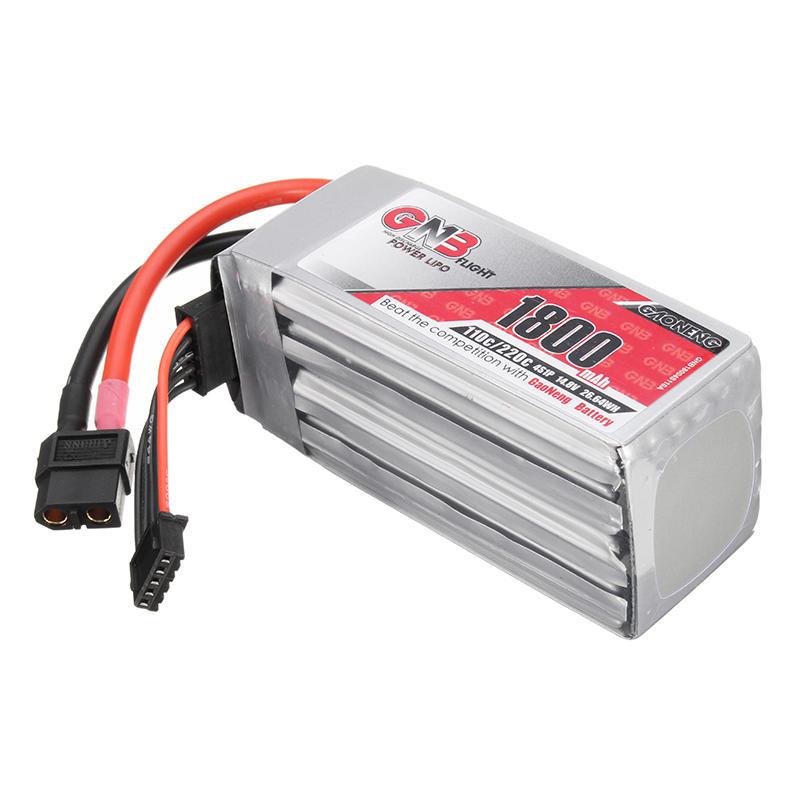Gaoneng GNB 14.8V 1800mAh 110C/220C 4S LiPo Battery XT60 Plug For FPV Racing Drone
