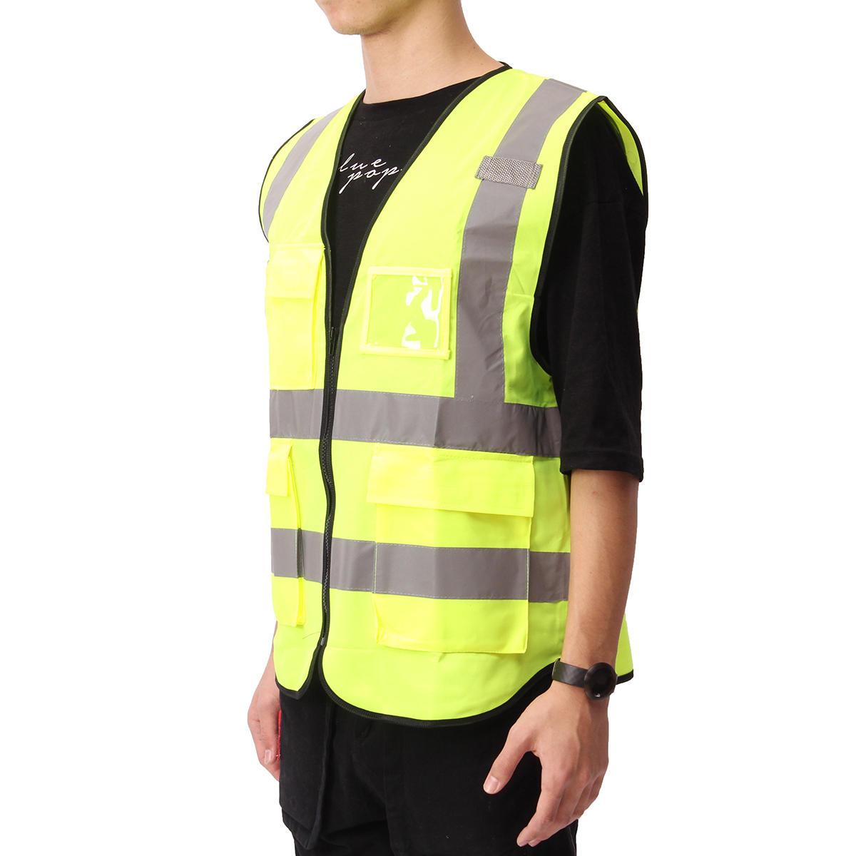 5 Color Vis Vest Workwear Clothing Safety Reflective Vest Safety Vest Reflective
