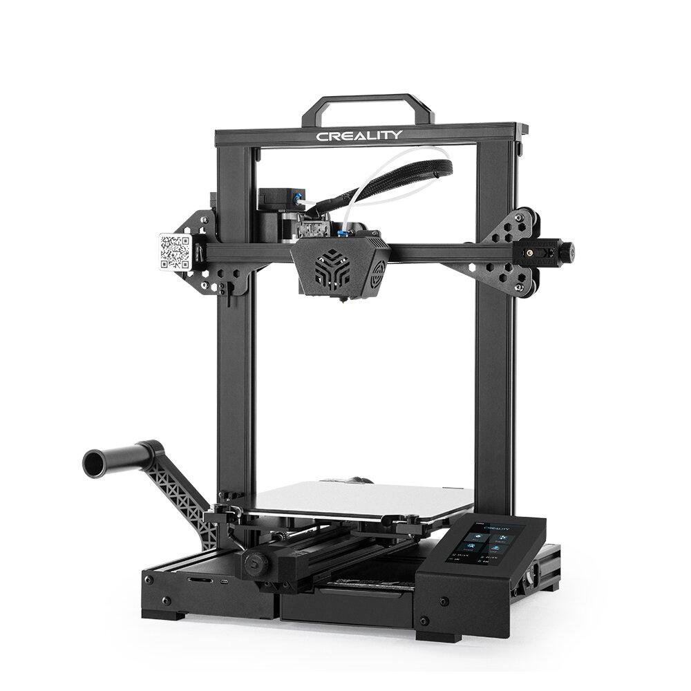 Creality 3D® CR-6 SE Leveling-free DIY 3D Printer Kit 235*235*250mm Print Size Photoelectric Filament Sensor Resume Print with Modular Nozzle Design/Carborundum Glass Printing Platform