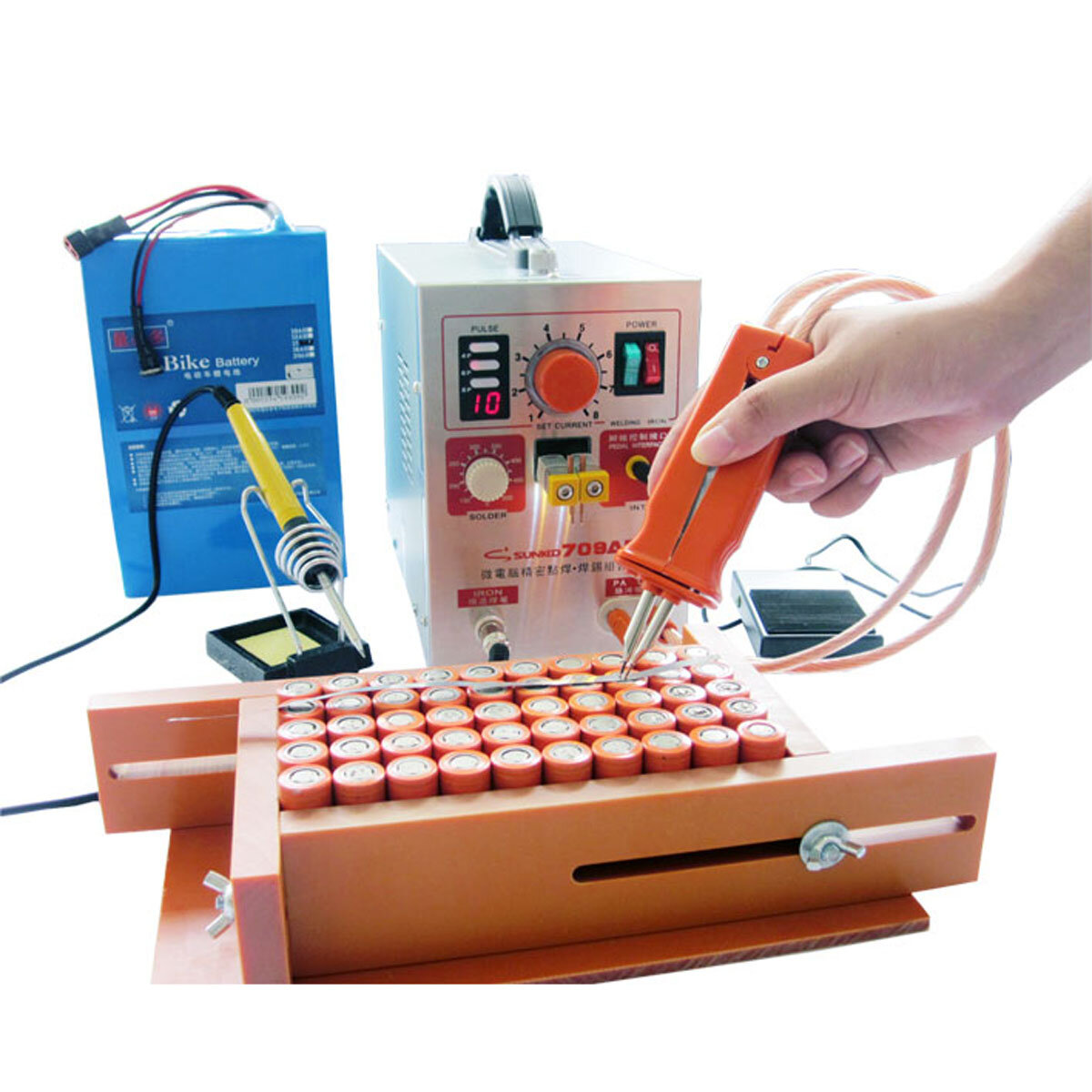 SUNKKO 709AD 2.2KW 110V/220V Spot Welder High Power Battery Digital Mobile Soldering Welding Machine 18650 Pulse Spot Weld