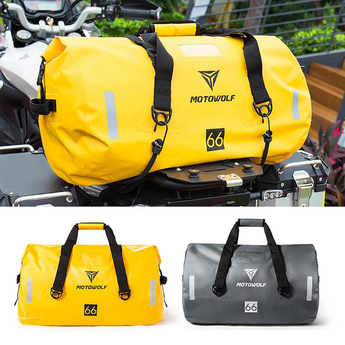 40L / 66L / 90L मोटरसाइकिल टूरिंग वाटरप्रूफ ड्राई लगेज बैग मोटरबाइक रोल पैक आउटडोर