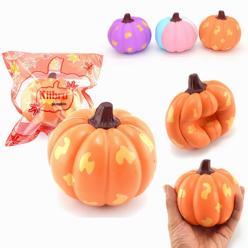2PCS Kiibru Halloween Squishy Pumpkin Vegetable 12cm Slow Rising Gift Collection