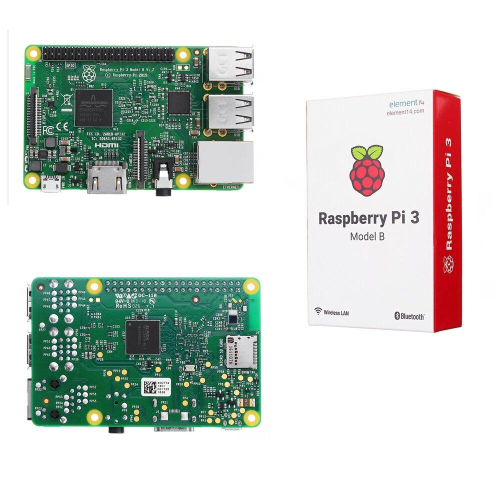 Raspberry Pi 3 Modello B ARM Cortex-A53 CPU 1.2GHz 64-Bit Quad-Core 1GB RAM 10 Times B+