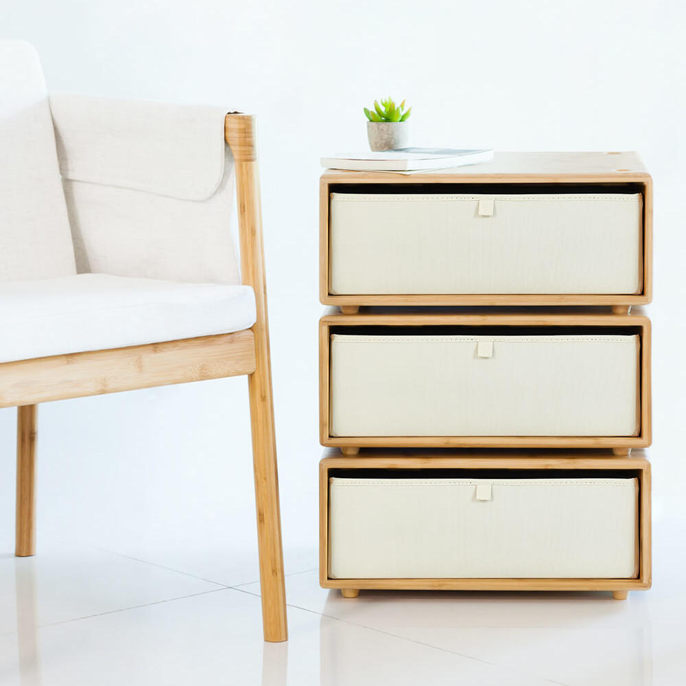 CHENGSHE Multi-layer Bamboo Drawer Storage Box Baskets Table in Your Living Room from xiaomi youpin