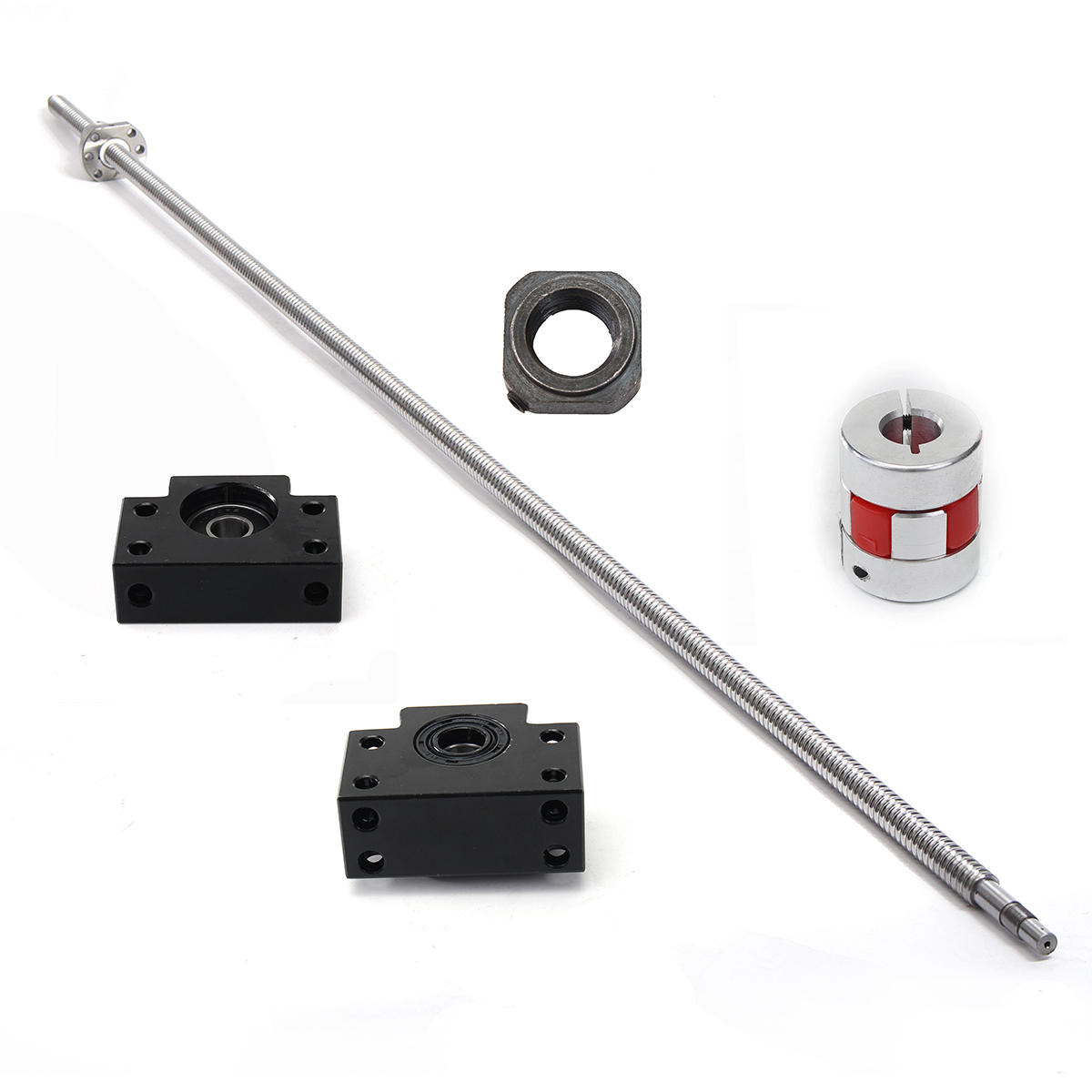 RM1605 1500mm Ball Screw with BK12 BF12 Ball Screw End Supports and Coupler Set