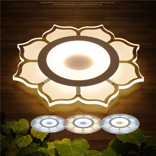 15W Modern Flower Acrylic LED Ceiling Lights Living Room Bedroom Home  Lighting Lamp AC220V