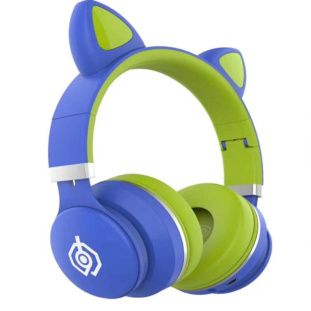 Bakeey LED031 LED Over-Ear Headphones Noise Cancelling Headset bluetooth 5.0 Wireless Kids Headset Support TF Card 3.5mm Plug With Mic