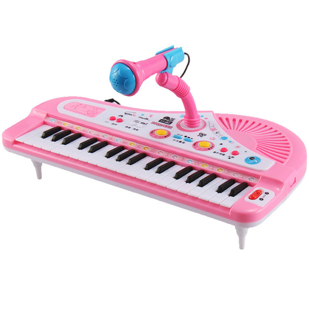 37 Key Kids Electronic Keyboard Piano Musical Toy with Microphone for  Children's Toys