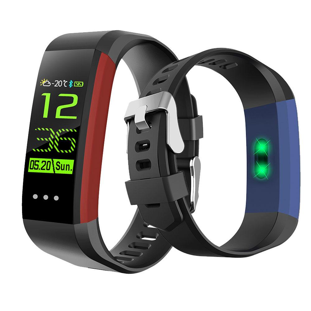 CK16 Smart Bracelet HR Blood Pressure Monitor Weather Report Alarm IP67 Waterproof Sport Bracelet