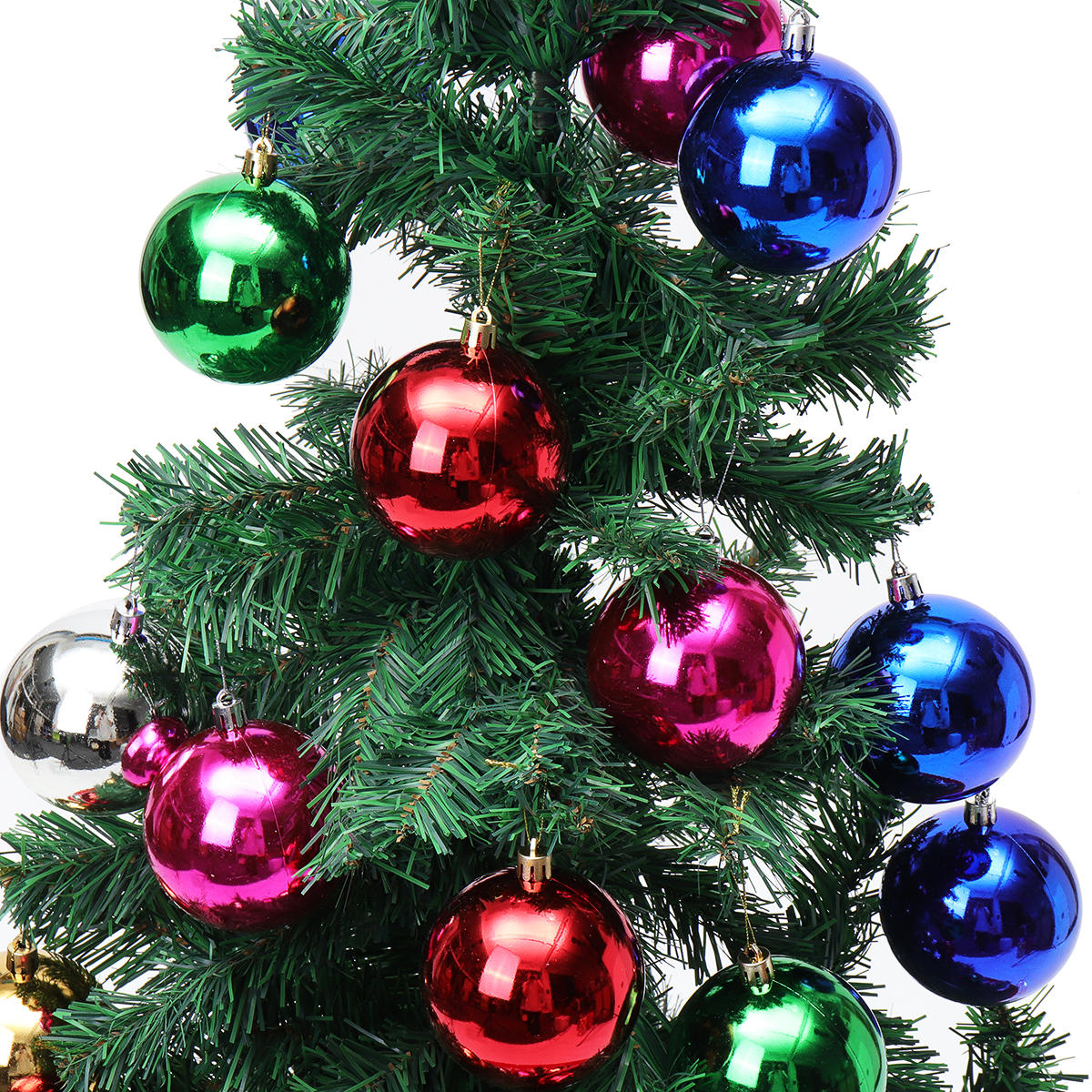 Christmas Balls.24pcs Merry Christmas Tree Decoration Xmas Balls Ornaments Party Wedding Gift