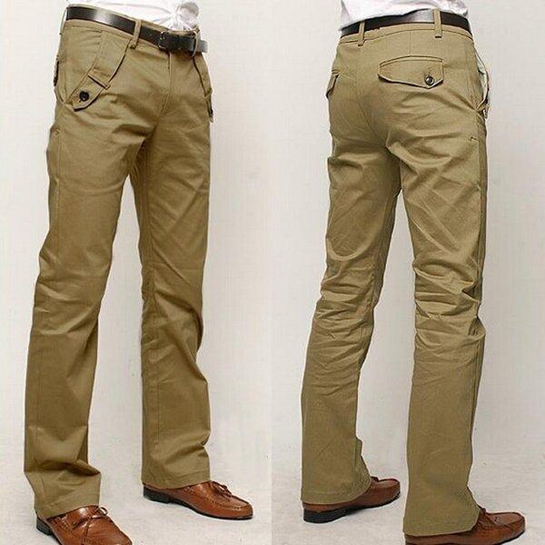 वसंत शरद ऋतु जिपर फ्लाई व्यापार कम कमर बहु जेब पुरुषों के लिए आरामदायक पैंट