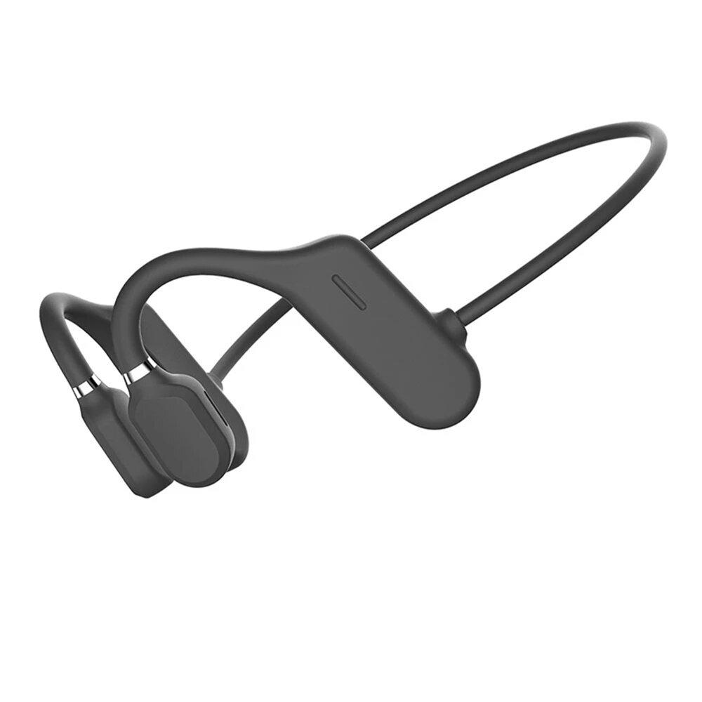 OPENEAR Duet Bone Conduction Sports bluetooth Wireless Headphone 6D Handsfree Driving Neckband IPX6 Waterproof Earphone with Mic