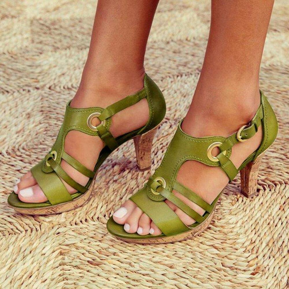 Large Size Women  explosion models Euramerica Heeled Sandals