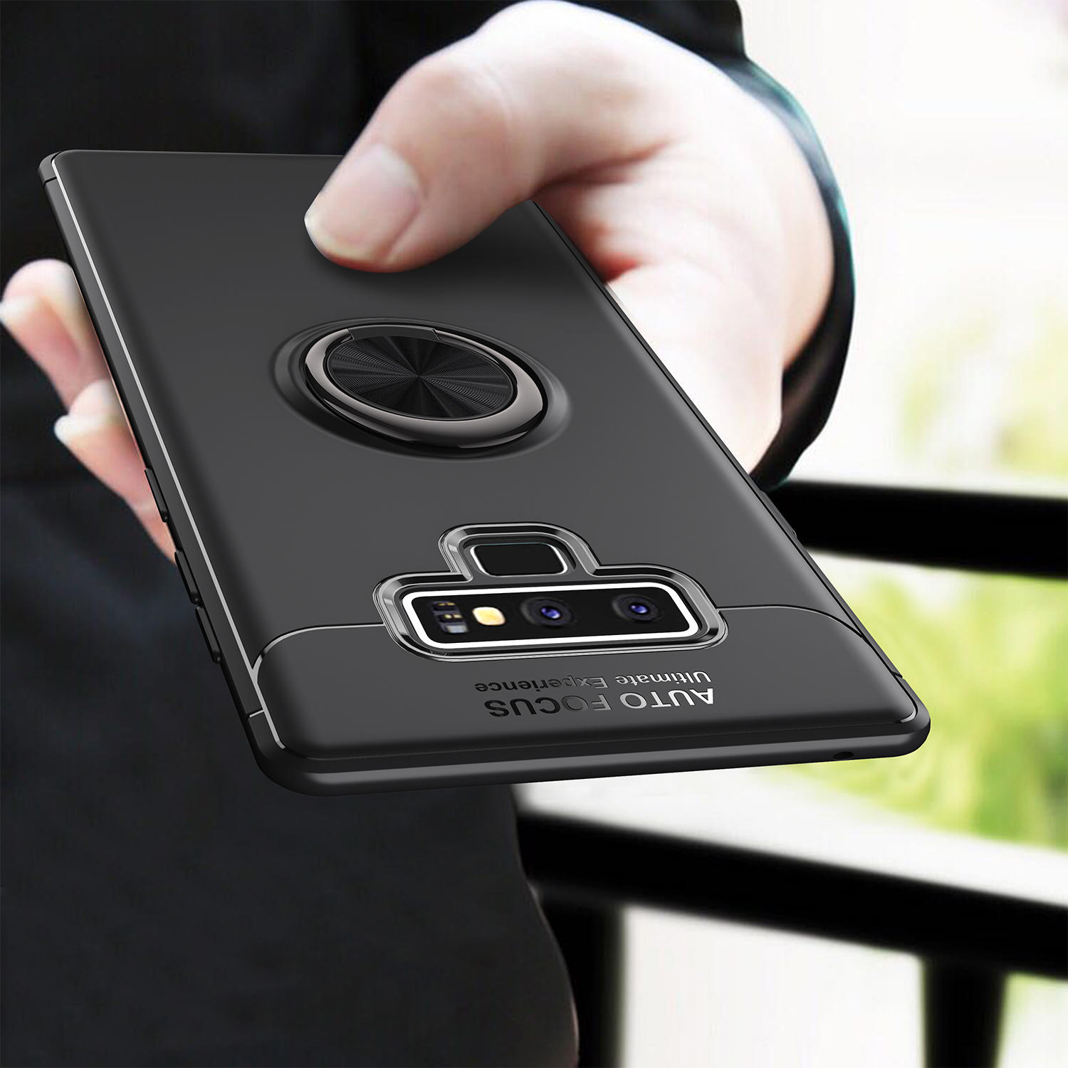 san francisco f10c5 54b03 C-KU 360º Rotating Ring Grip Kickstand Protective Case For Samsung Galaxy  Note 9