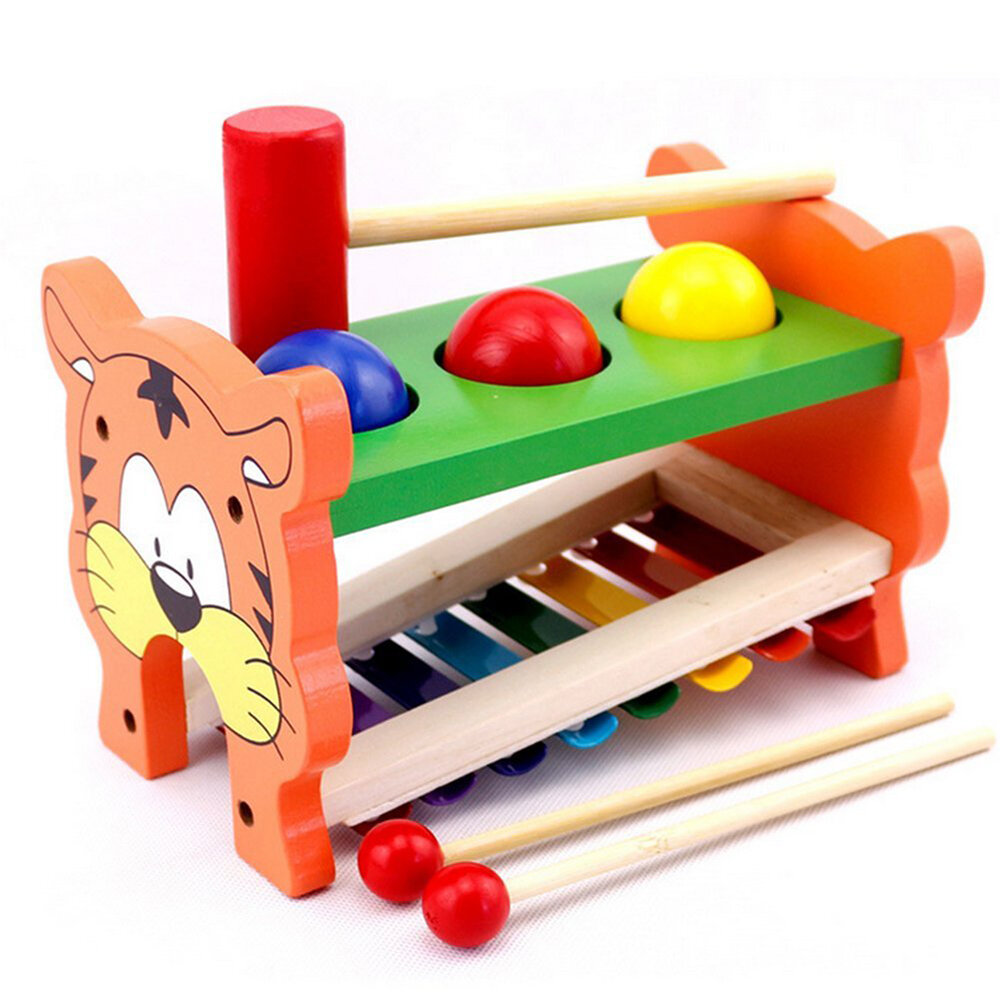 2 In 1 Wooden Tap Xylophone Education Musical Instruments for Children