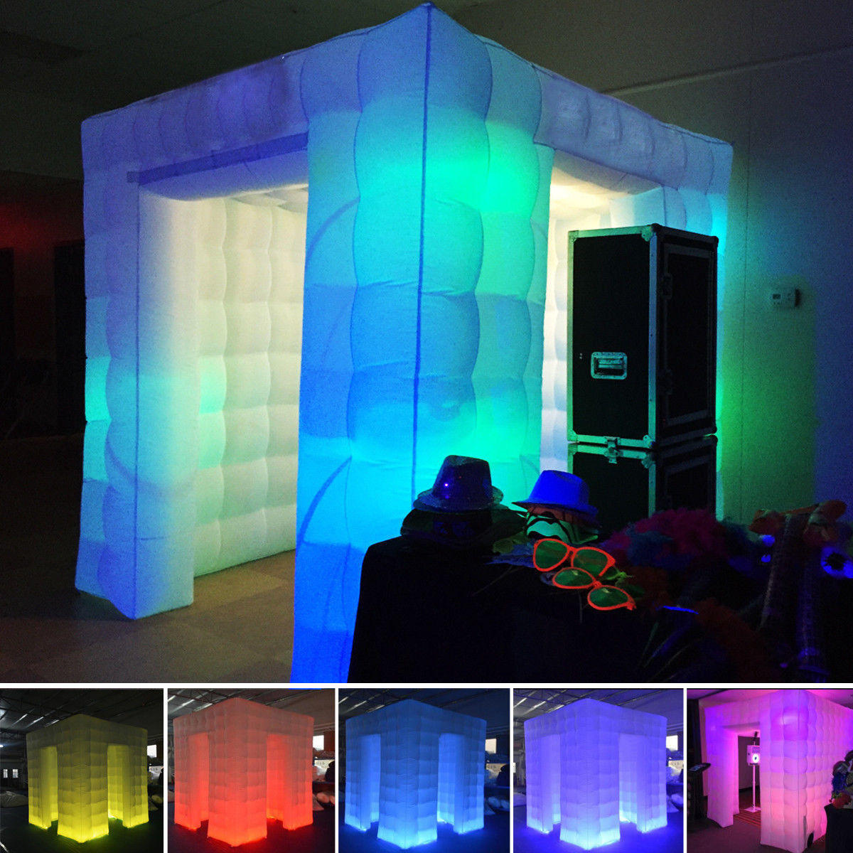 2.55M Inflatable Professional LED Air Photo Booth Photography Shooting Tent