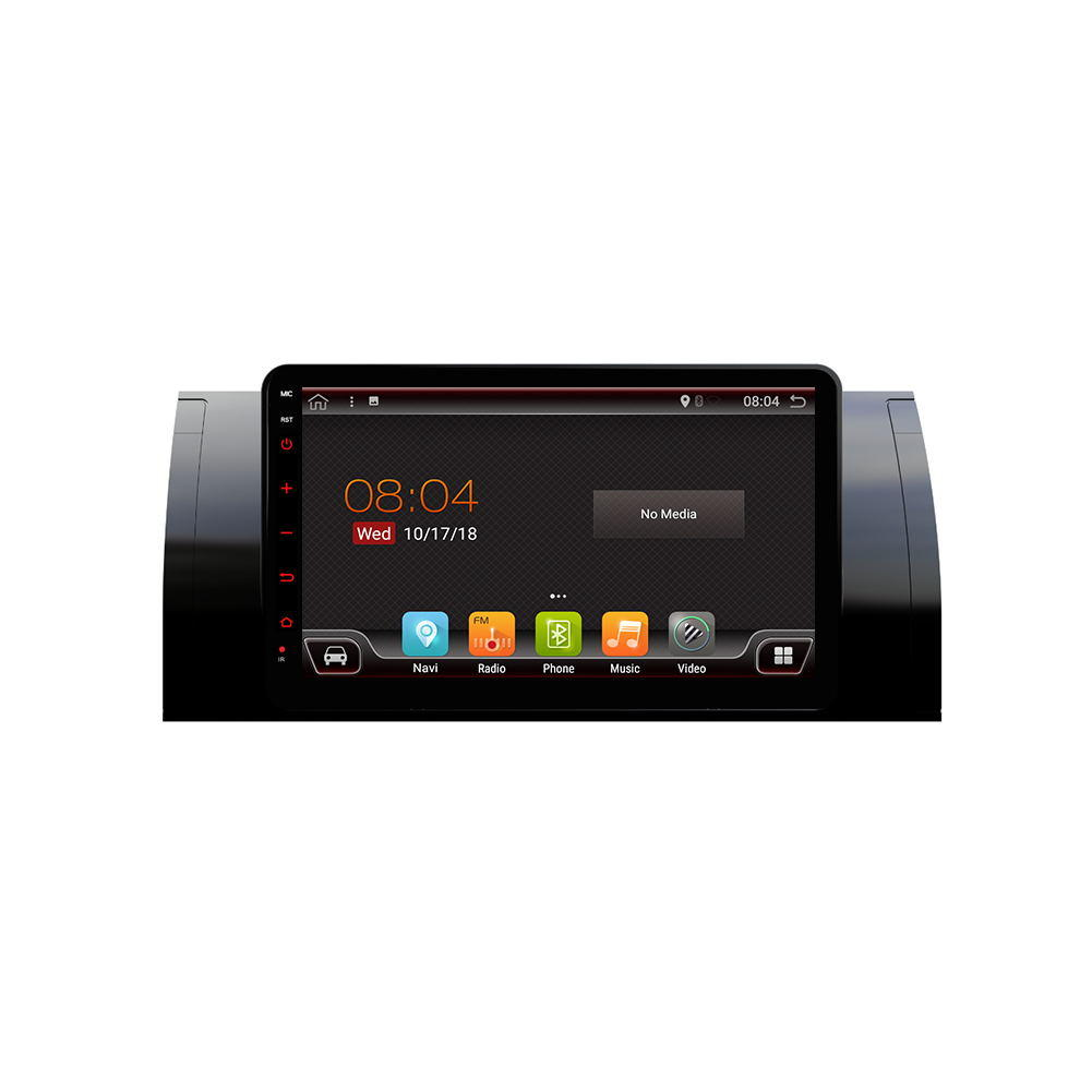 PX6 8.0 Inch 2 DIN 4+64G for Android 9.0 Car MP5 Player 6 Core Touch Screen bluetooth Radio GPS Carema For BMW 5(E39) 1995-2003 BMW X5(E53) 2000-2006