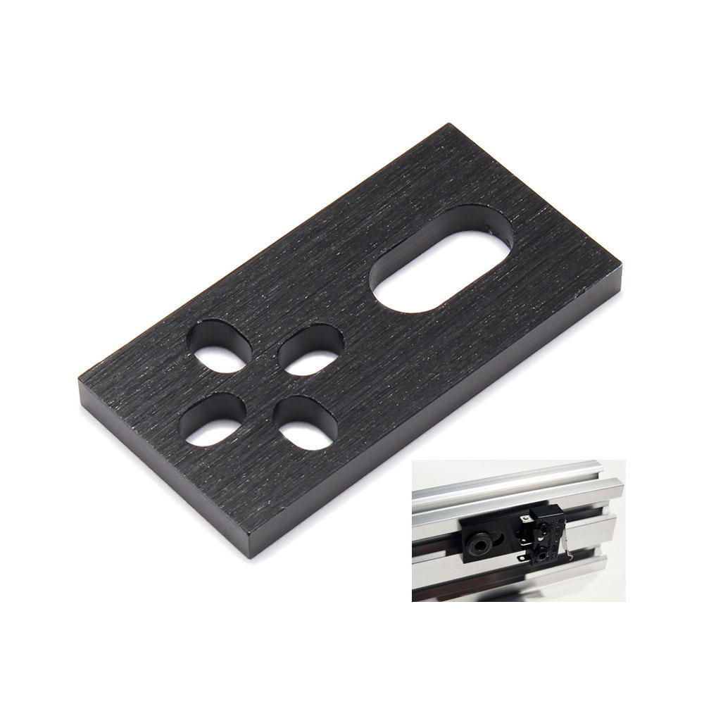 Machifit Aluminum CNC Plate Micro Limit Switch Plate for V-slot Aluminum Extrusions Profiles CNC Parts