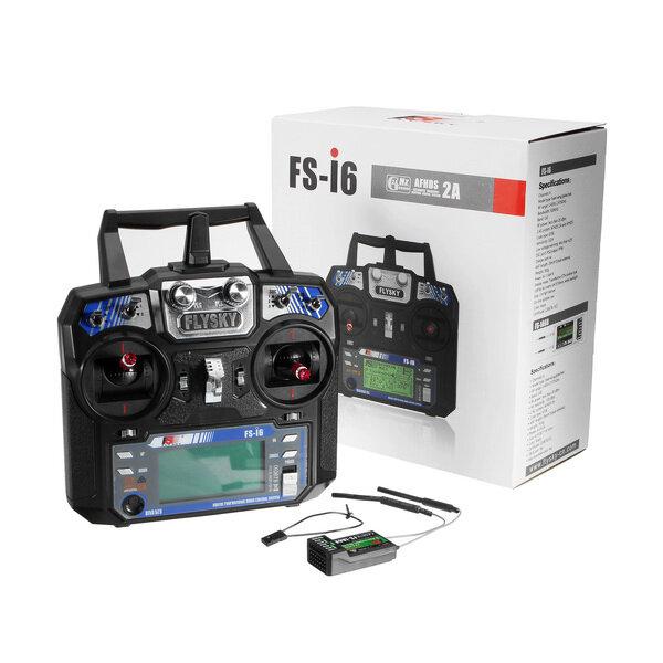 FlySky FS-i6 2.4G 6CH AFHDS Máy phát bức xạ RC với bộ thu FS-iA6B cho RC FPV Drone