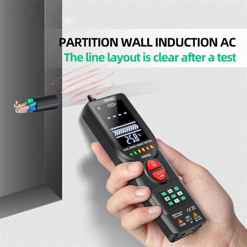 ANENG AN998 Automatic Digital Professional Multimeter 6000 Counts Electric Auto Ranging AC/DC Voltmeter Temp Ohm Hz Dete